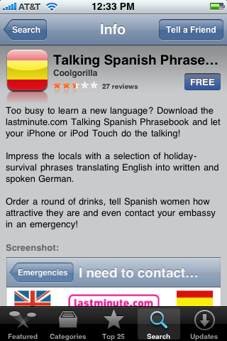 Talking Spanish PhraseBook 1.0