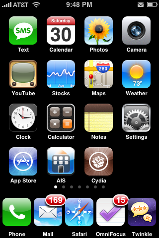 5 icon dock