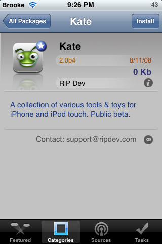 Kate available in Installer 4.0