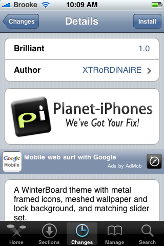 Brilliant – WinterBoard Theme