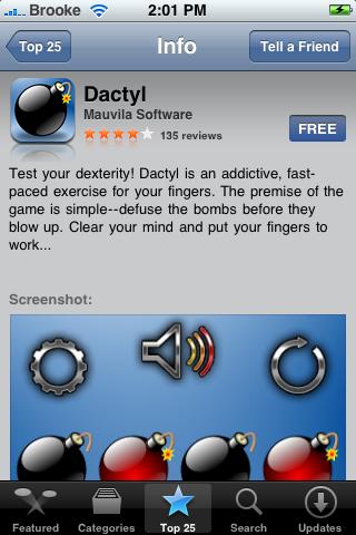 Dactyl Now in App Store
