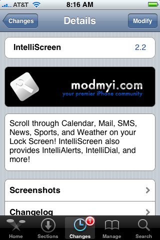 IntelliScreen 2.2