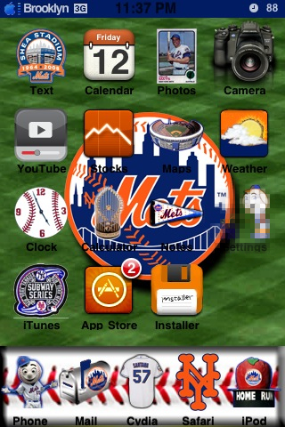 NY Mets Winterboard Theme