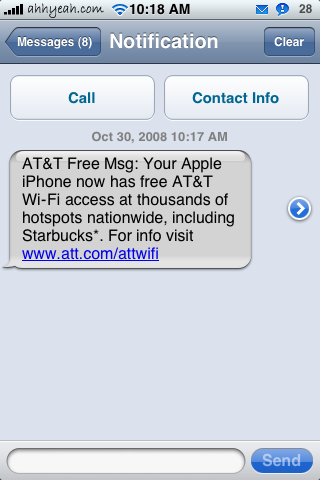 Free WiFi at AT&T Hotspots Including Starbucks!
