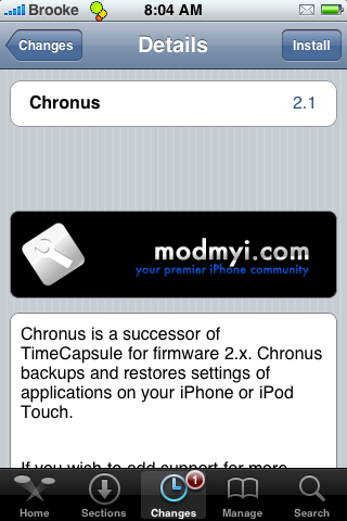 TimeCapsule now Chronus
