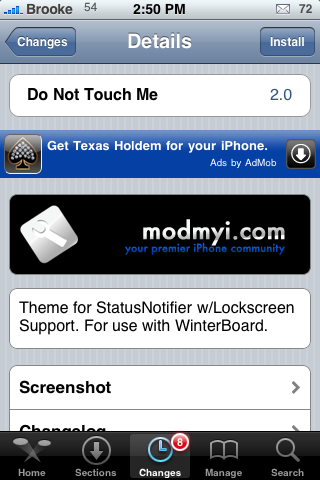 Do Not Touch Me – Status Bar Notifier Mod