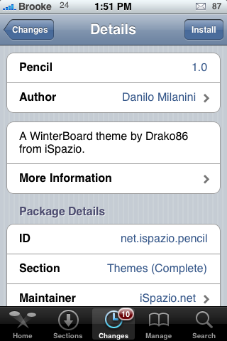Pencil – WinterBoard Theme