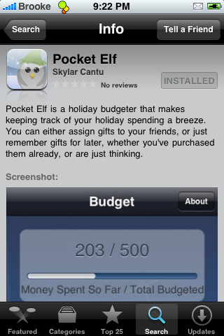Pocket Elf – Keep Track of Holiday Spending