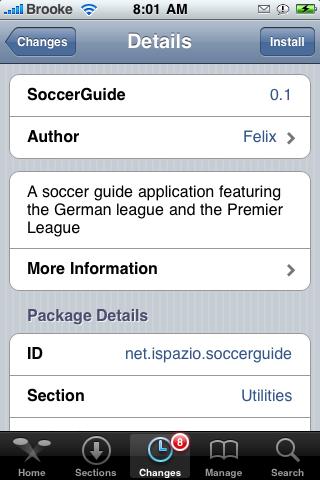 SoccerGuide 0.1