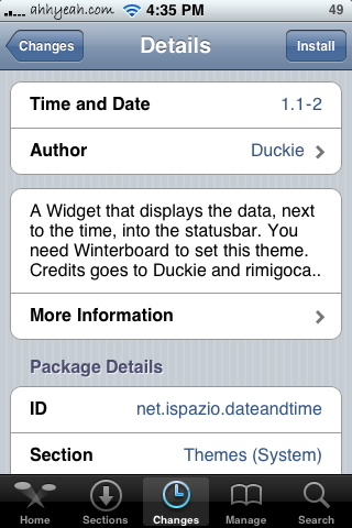 Date & Time WinterBoard Mod