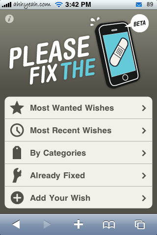 pleasefixtheiphone.com – Wishlist of Fixes for the iPhone