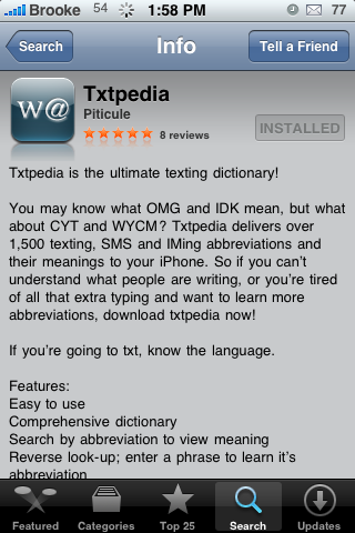 txtpedia – Dictionary of Texting, IMing and SMS Abbreviations
