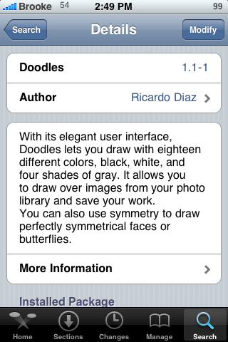 Doodles (simple drawing application) Upate – Version 1.1-1