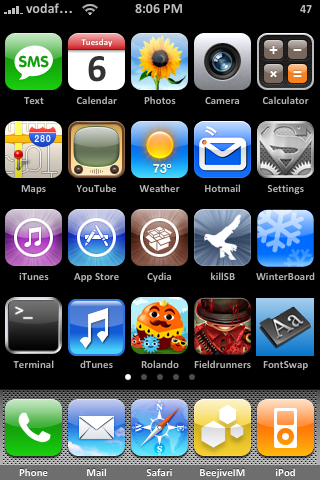 Icons On Top Of Iphone 5