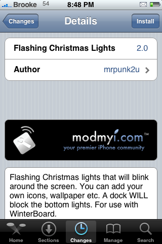 WinterBoard Theme – Flashing Christmas Lights