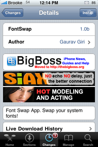 FontSwap – Change the Fonts on your iPhone or iPod Touch