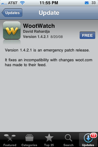 WootWatch Update