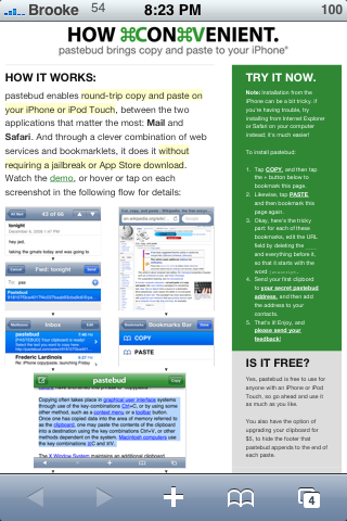 pastebud – Copy and Paste for the iPhone – Step by Step Instructions