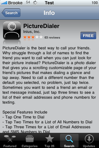 PictureDialer – Picture Speed Dial