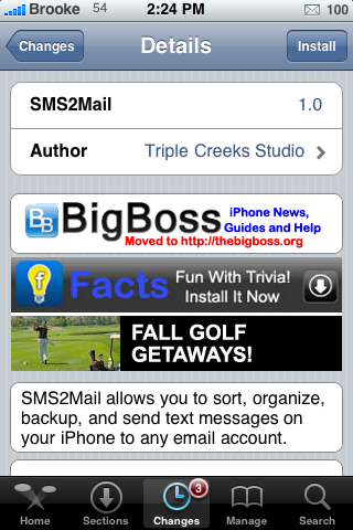 SMS2Mail – Backup and Sent Texts to Email