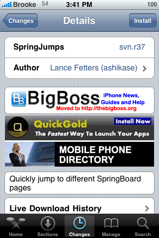 SpringJumps – Jump Directly to a Specified Page of your SpringBoard