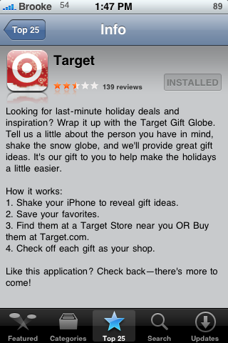 Target Application – Easy and Fun Way to Find Gift Ideas!