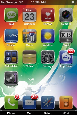 There are hundreds, if not thousands of themes designed for the iPhone.