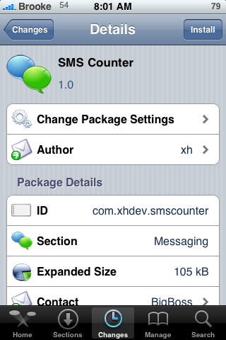 SMS Counter – View SMS Totals