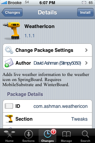 WeatherIcon – Updating Weather Icon (Updated…scroll down)