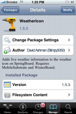 WeatherIcon 1.5.3 – Updating Weather Icon