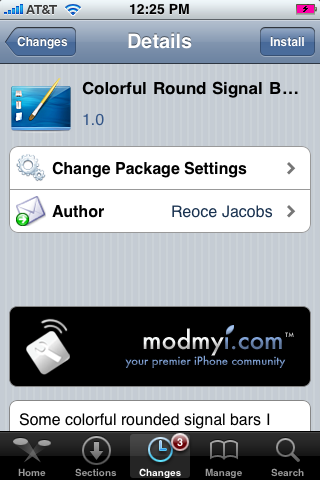 Colorful Round Signal Bars Mod