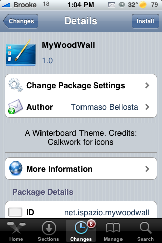 MyWoodWall WinterBoard Theme