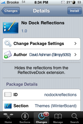 No Dock Reflections