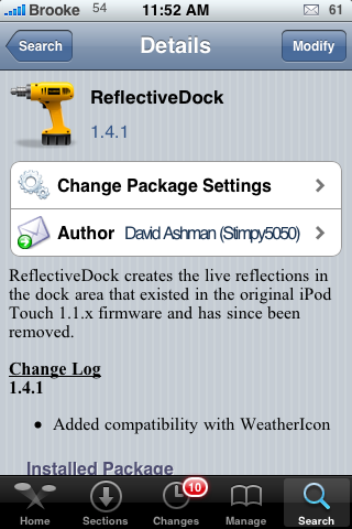 Reflective Dock Mod Updated to Support WeatherIcon Mod