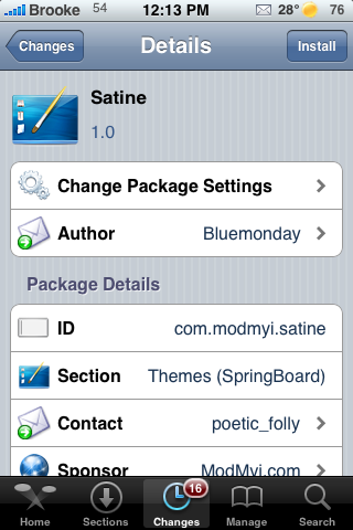 Satine – WinterBoard Theme