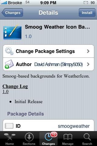 Smoog Theme  – Background for WeatherIcon Mod
