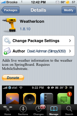 WeatherIcon Updates – Fixes Status Bar Icons