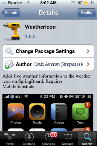 WeatherIcon Update – Removes Theme Adds Status Bar Icons