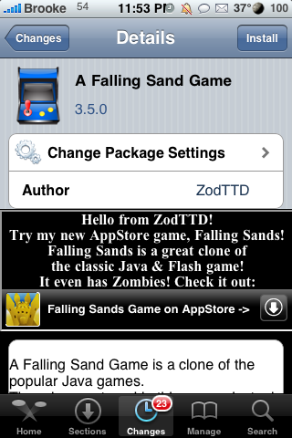 A Falling Sand Game