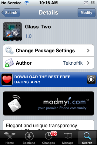 Glass Two – WinterBoard Theme