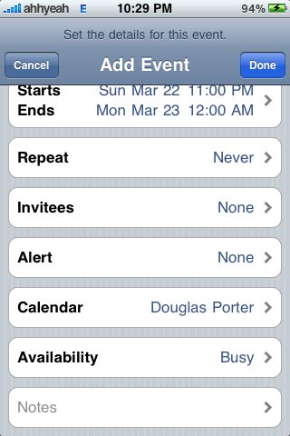 Firmware 3.0 Preview: Calendar