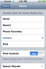 iPhone 3.0 Home Screen Settings