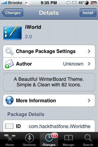 iWorld – WinterBoard Theme
