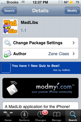 MadLibs – Complete Mad Libs on your iPhone or iPod Touch