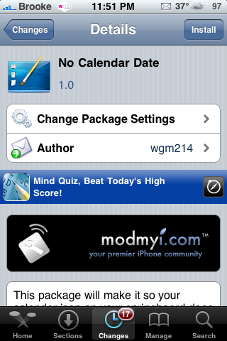 No Calendar Date – Removes Date From Calendar Icon