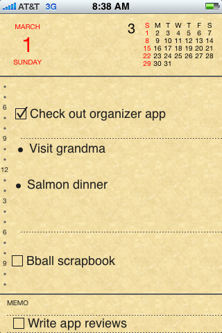 Organizer – ToDo List, Notes, Appointments…Organizing Application