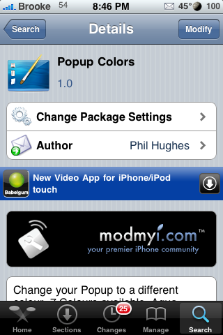 Popup Colors