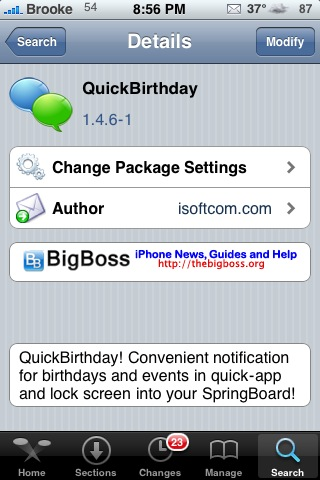 QuickBirthday – Keep Track of Upcoming Birthdays