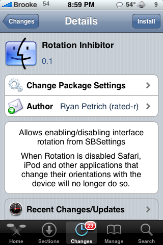 Rotation Inhibitor – Turn off Auto-Rotating Feature
