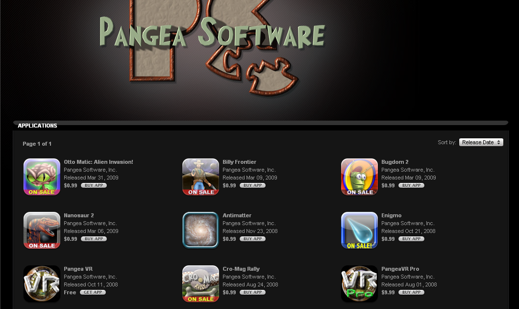 Pangea Software Apps on Sale for $0.99